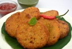 Tikki di Aloo - tortini della patata Fotografie Stock