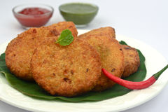 Tikki di Aloo - tortini della patata Immagine Stock