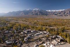 Долина вокруг Tiksey, Ladakh Инда, Индия Стоковая Фотография