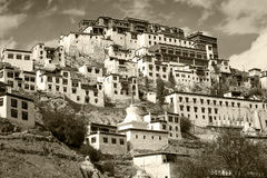 Tiksey Monastery is a Buddhist monastery in Ladakh, India , Stock Image