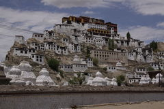 Tiksey monastery. In Ladakh. India stock images