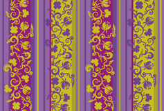 Tilable floral pattern Royalty Free Stock Images