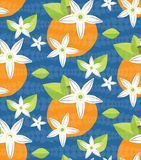 Tilable Orange Blossom vector Pattern Stock Photography