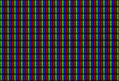 Tilable texture display LCD RGB - Macro. A Tillable super macro of a LCD TV display Stock Photo
