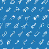 Tilable tools background texture. A tilable seamless tools background texture with lots of drawings of different tools stock illustration