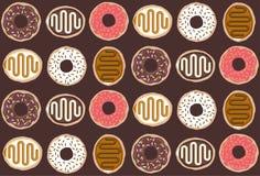 Tasty doughnut pattern Stock Images