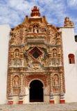 Tilaco facade I. Facade of the ancient catholic mission of tilaco, located near the city of jalpan de serra in the mexican state of queretaro, within the natural Stock Photos