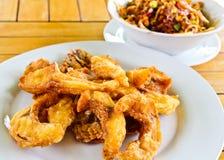 Tilapia fish cut fries Stock Photos