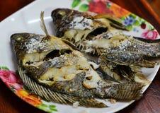 Tilapia fish grill Stock Photo