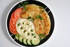 Tilapia frit de plat Image libre de droits
