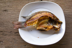 Tilapia fry left half. Stock Image