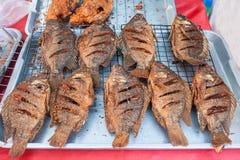 Tilapia gebraden vissen. Royalty-vrije Stock Foto