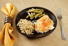 Tilapia parmesan meal Stock Image