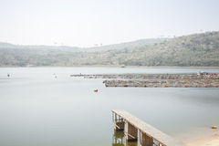 Tilapia pond in Ghana, West Africa. Stock Image
