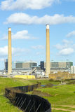 Tilbury Krachtcentrale: Elektriciteit. Royalty-vrije Stock Afbeelding