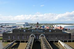 Tilbury-Kreuzschiff-Anschluss benutzt für Pasenger-Kreuzschiffe nach und von London lizenzfreie stockfotos
