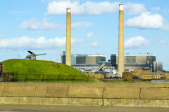 Tilbury Power Station: Electricity. Tilbury Power station – fossil fuel fired Stock Image