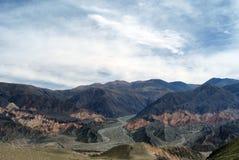 横向山tilcara 图库摄影