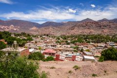 Tilcara city, Argentina. Tilcara city and quebrada mountains landscape, Jujuy, Argentina Royalty Free Stock Images