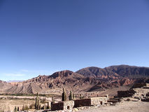 Tilcara in Jujuy. Old constructions in Tilcara, Jujuy stock image