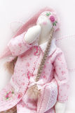 Tilda doll in pink Stock Images