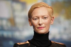 Tilda Swinton attends the `The Souvenir` press conference. During the 69th Berlinale International Film Festival Berlin at Grand Hyatt Hotel on February 12 royalty free stock photos
