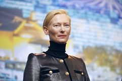 Tilda Swinton attends the `The Souvenir. ` press conference during the 69th Berlinale International Film Festival Berlin at Grand Hyatt Hotel on February 12 stock photography