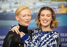 Tilda Swinton,  Honor Swinton-Byrne attend the `The Souvenir royalty free stock image