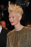Tilda Swinton,Lover. Tilda Swinton at gala premiere at the 66th Festival de Cannes for her movie 'Only Lovers Left Alive'. May 25, 2013 Cannes, France Picture royalty free stock photography