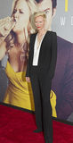 Tilda Swinton. Oscar-winning British actress Tilda Swinton arrives on the red carpet for the world premiere of the romantic comedy, Trainwreck, at Alice Tully royalty free stock photo