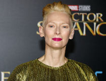 Tilda Swinton. At the World premiere of 'Doctor Strange' held at the El Capitan Theatre in Hollywood, USA on October 20, 2016 royalty free stock image