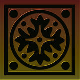 Tile 1 celtic style series. Tile illustration inspired by celtic designs, with tones of bronze to gold 1st in a set of 5 vector illustration