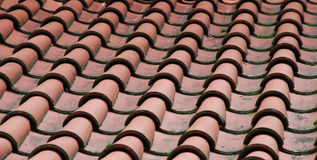 Tile. Roof covered глинянной a red tile Royalty Free Stock Photo
