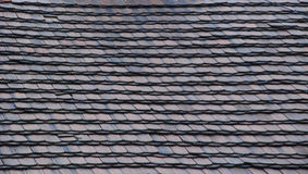 Tile. Roof covered with a flat clay tile Stock Images