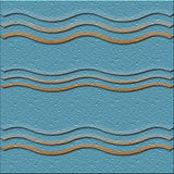 Tile 2 beach and sea series. Tile series beach and sea. colors of the sky sea and beach with shapes symbolic of the beach 2nd of 5 vector illustration