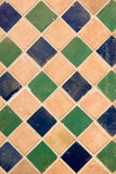 Tile. Blue and green old tile background Royalty Free Stock Photo