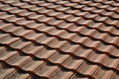 Tile. Red Tile Roof of Bosnian house Royalty Free Stock Photography