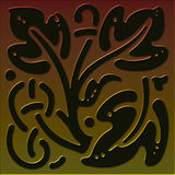 Tile 3 celtic style series. Tile illustration inspired by celtic designs with tones of bronze,copper and brass to gold 3rd in a set of 5 stock illustration