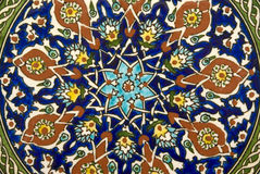 Tile. Design in a mosque Stock Photography