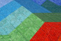 Tile. Colored mosaic tile in a public area in Monaco. Background Royalty Free Stock Photos