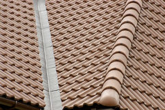 Tile. House roof protected by a tile Stock Image