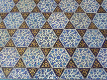 Tile. Turkish tiles in Topkapi palace, Istanbul, Turkey stock photo