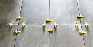 Tile Aligning Spacer Leveling System Royalty Free Stock Images