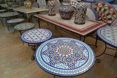 Free Tile And Mosaic Craftsmanship Is Very Advanced In Casablanca, Morocco Stock Image - 165364671