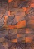 Tile Art. Work with Lake Taupo & Tongariro National Park Stock Photography