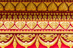 Tile art on the temple wall, Thai Style Royalty Free Stock Photography