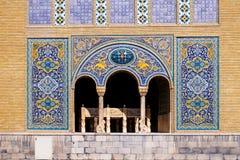 Tile art on the wall of Karim Khani Nook, Tehran, Iran. royalty free stock photos