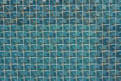 Tile background. The wall background it made by turquoise tile Royalty Free Stock Photos