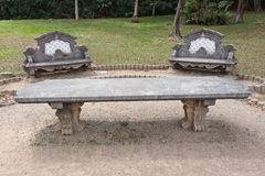 Tile Benches and Table Botanical Gardens Sao Paulo Stock Photo