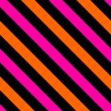 Tile black, pink and orange stripes vector pattern Stock Photo
